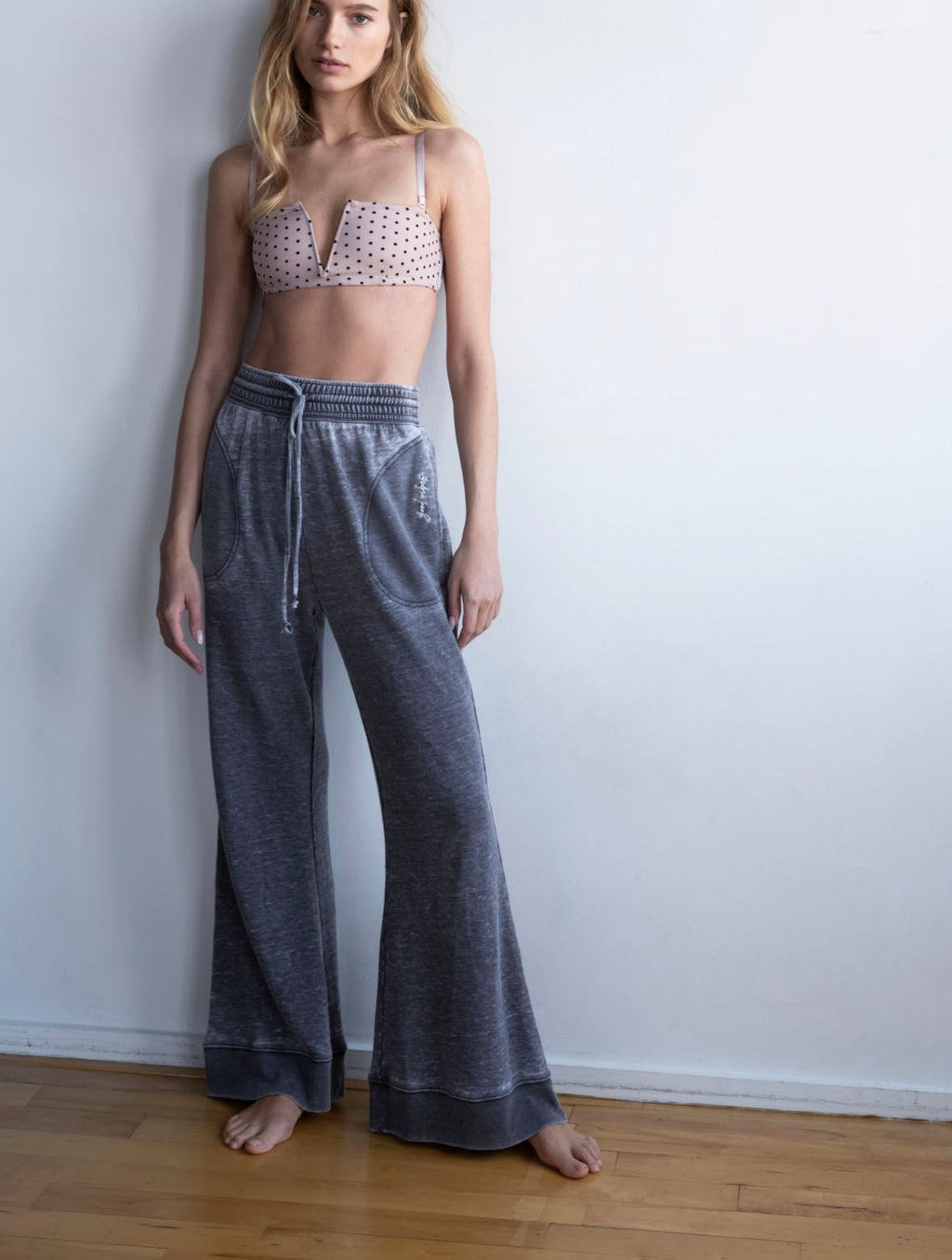 Free People Cozy Cool Girl Pant in Black