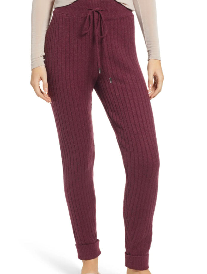 Free People Around The Clock Jogger in Wine
