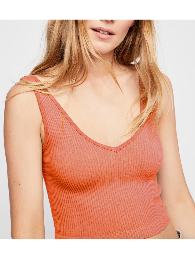Free People Solid Ribbed Brami in Melon