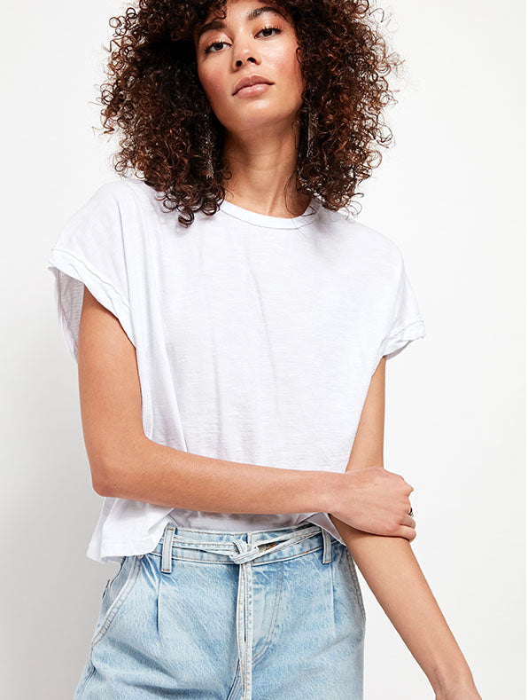 Free People You Rock Tee in White
