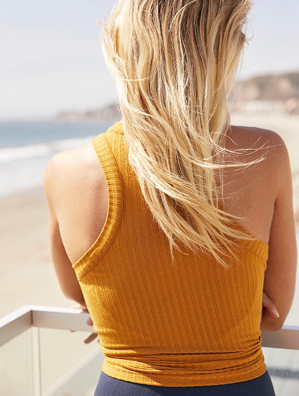 Free People Blissed Out Tank in Golden Ochre