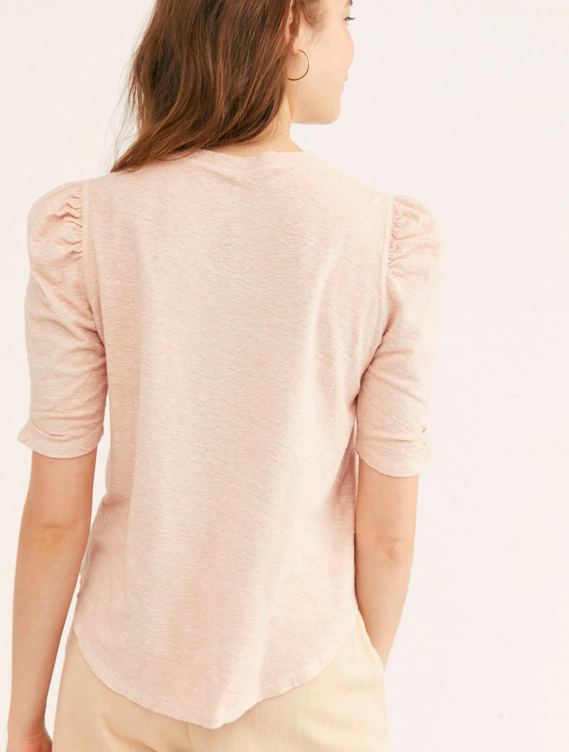 Free People Just A Puff in Peach