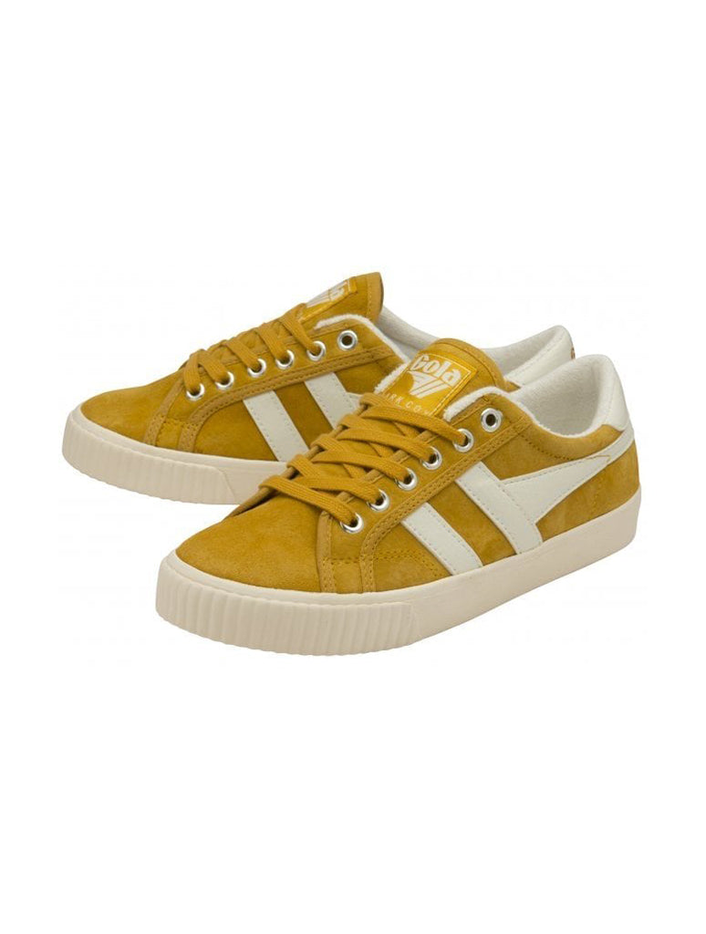 Gola Tennis Mark Cox Lace Up Sneaker in Sun/Off White
