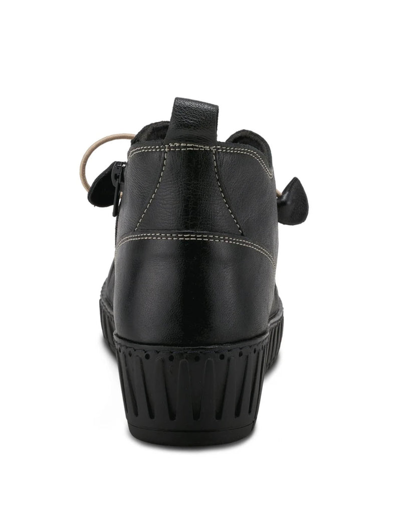 Spring Step Nespea Wrinkle Wedge in Black