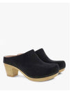 Golo Francine Black Suede Heeled Pump in Black