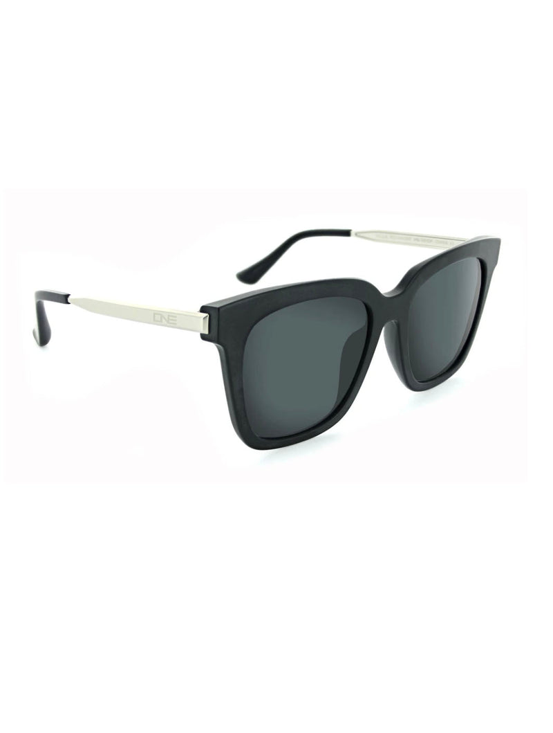 ONE by Optic Nerve Rialto in Shiny Matte Black/Silver