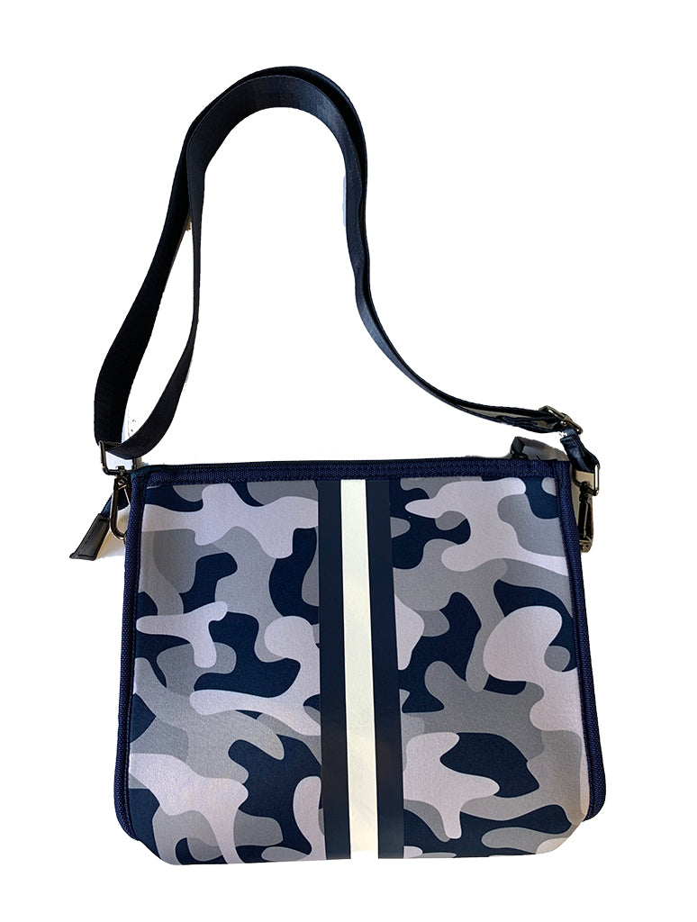 Haute Shore Mark Chill Crossbody Clutch Bag in Blue Camo