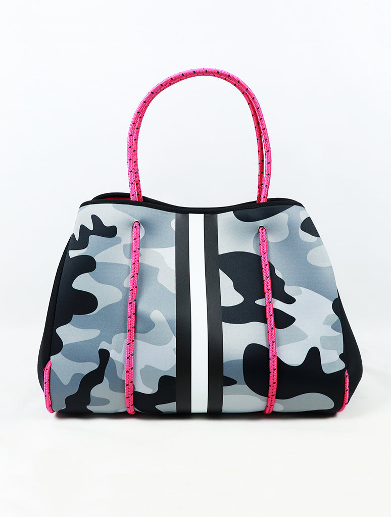 Haute Shore Greyson Tote Bag Spinning Grey Camo
