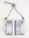 Haute Shore Mark Crossbody Bag in White Python