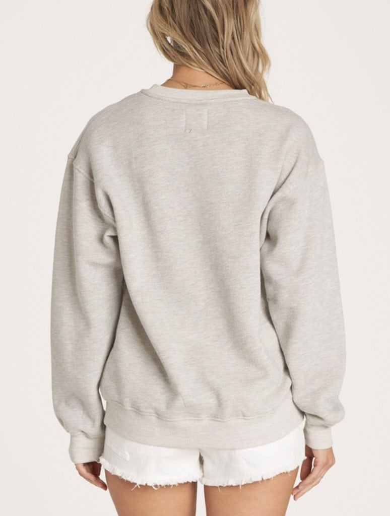 Billabong Bask in the Sun Sweatshirt in Salt Crystal