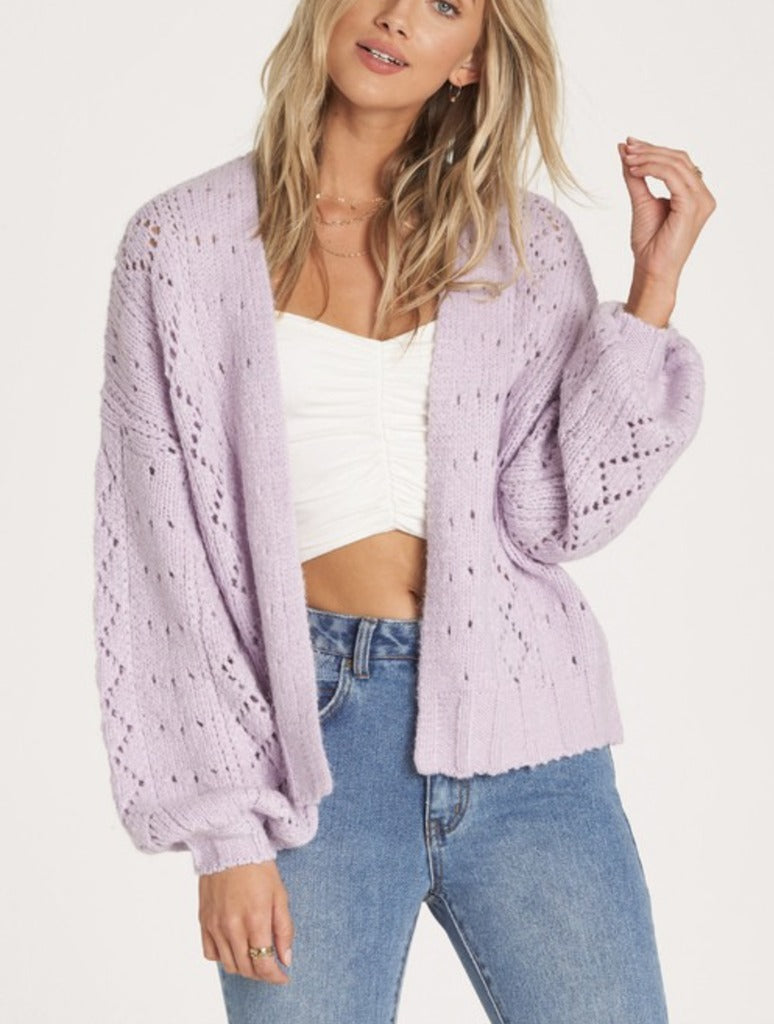 Billabong Blissed Out Cardigan in Lilac