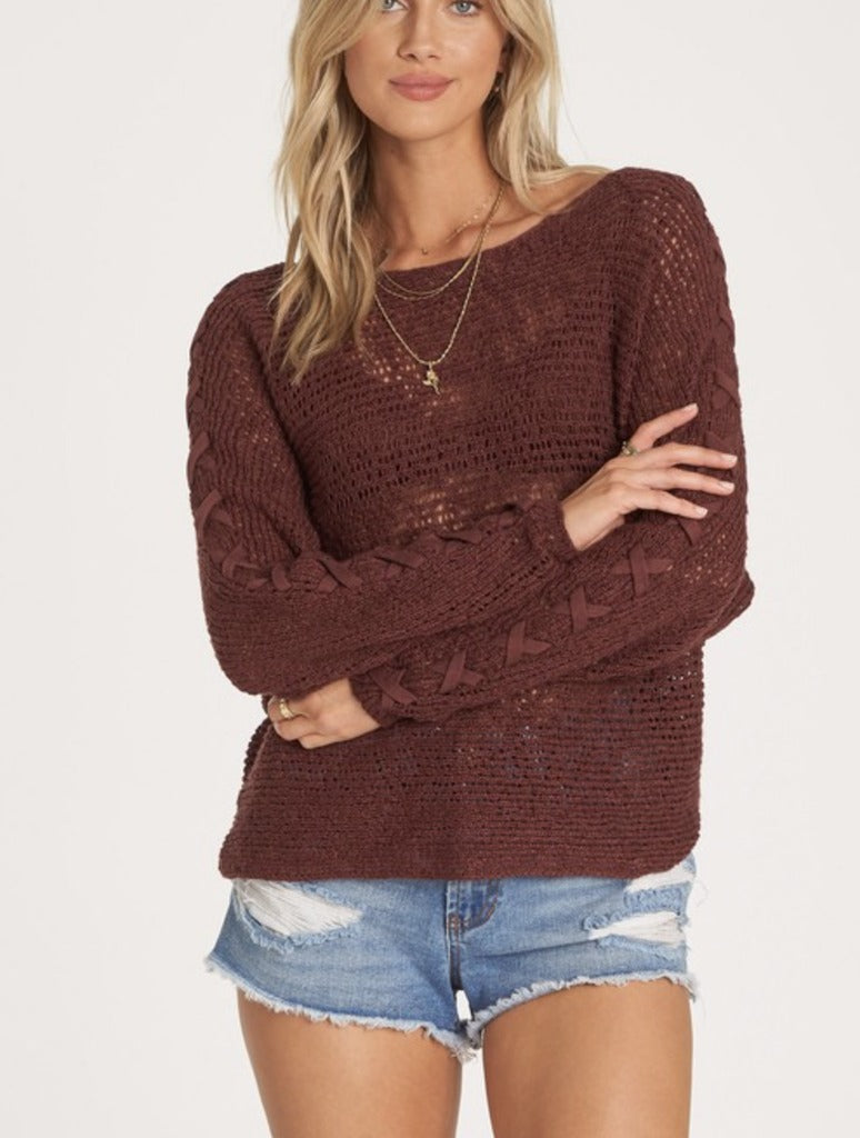 Billabong Chill Out Sweater in Coco Berry