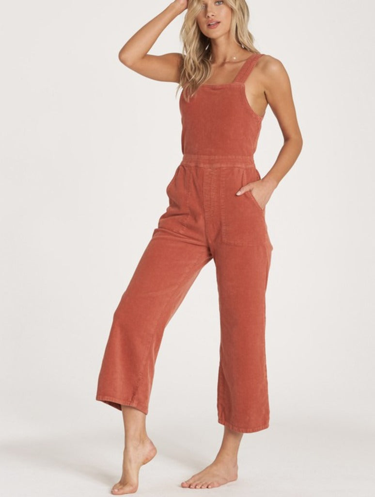 Billabong Get Lost Jumpsuit in Burnt Henna