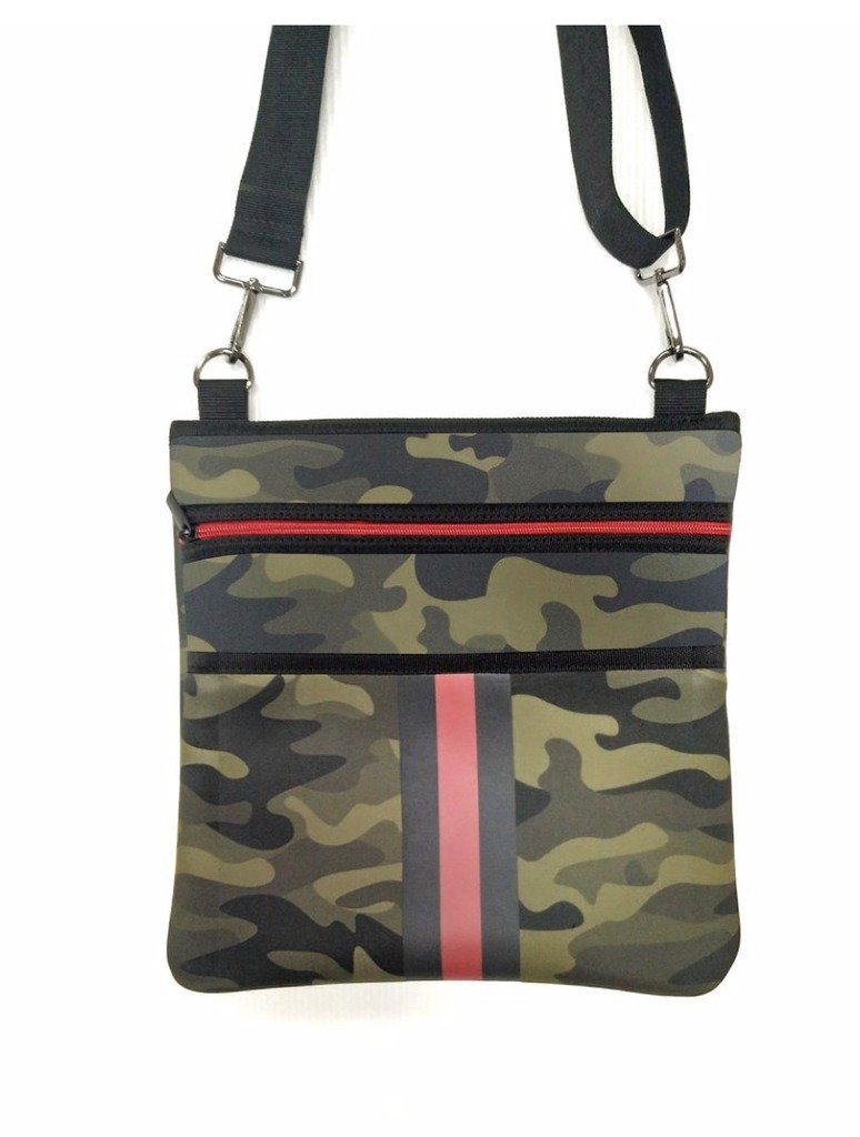Haute Shore Peyton Popular Crossbody Bag in Green Camo
