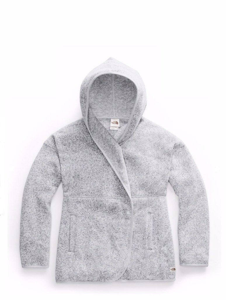 North Face Crescent Wrap in Light Grey