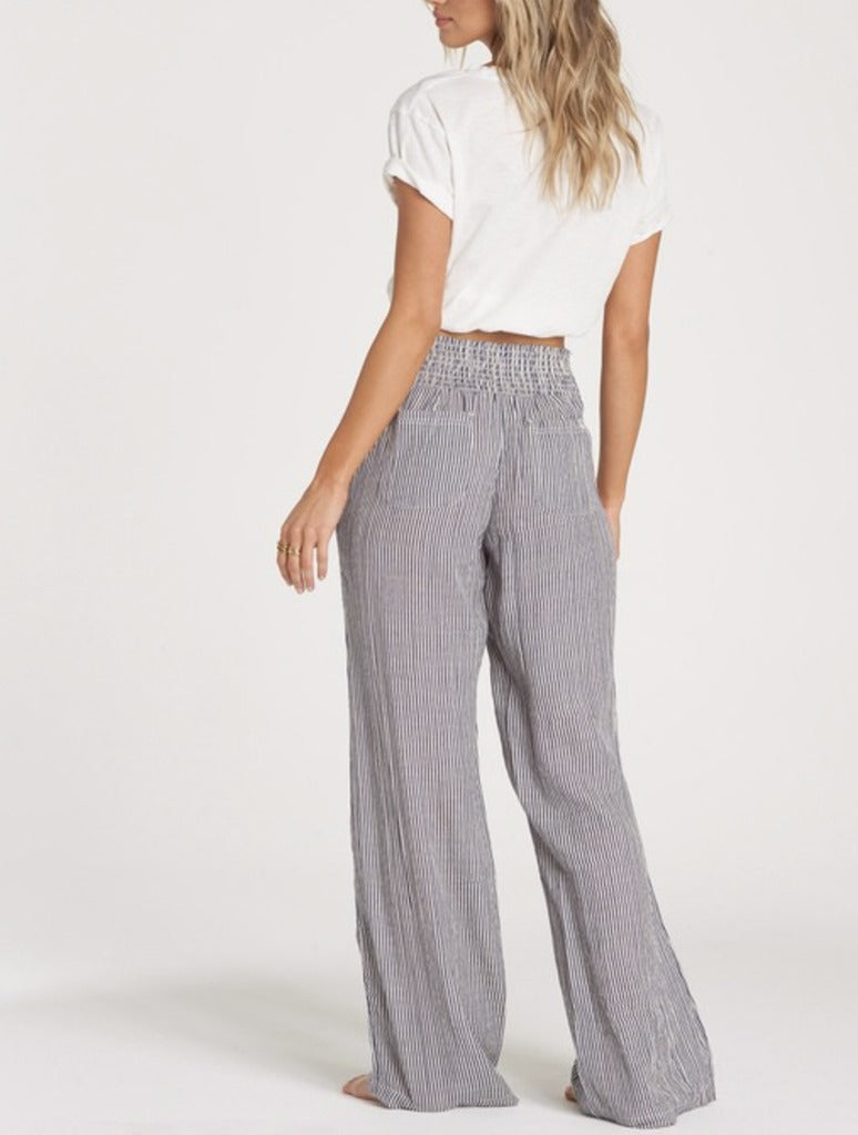 Billabong New Waves Striped Pant in Whisper