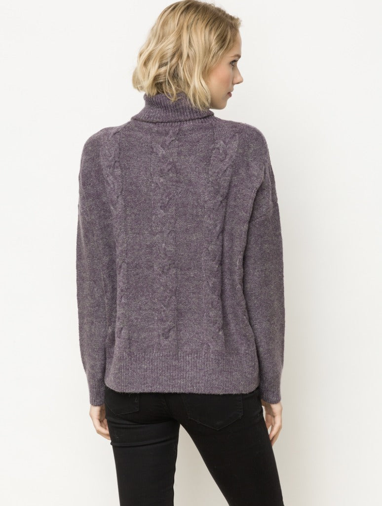 Mystree Turtle Neck in Purple