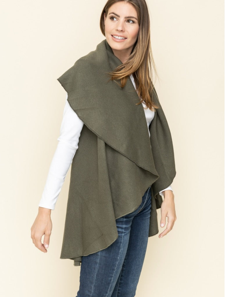 Mystree Shawl Cardigan in Khaki