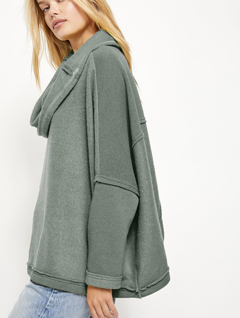 Free People Huntington Pullover in Green