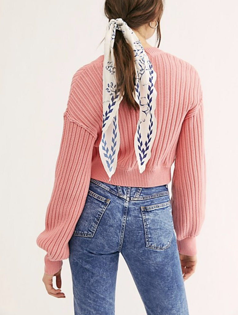 Free People All Yours Cardi in Pink