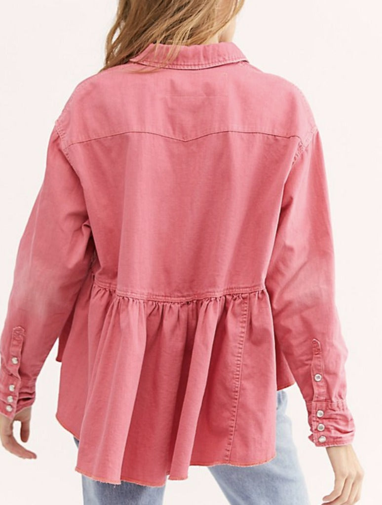 Free People Dylan Babydoll in Pink
