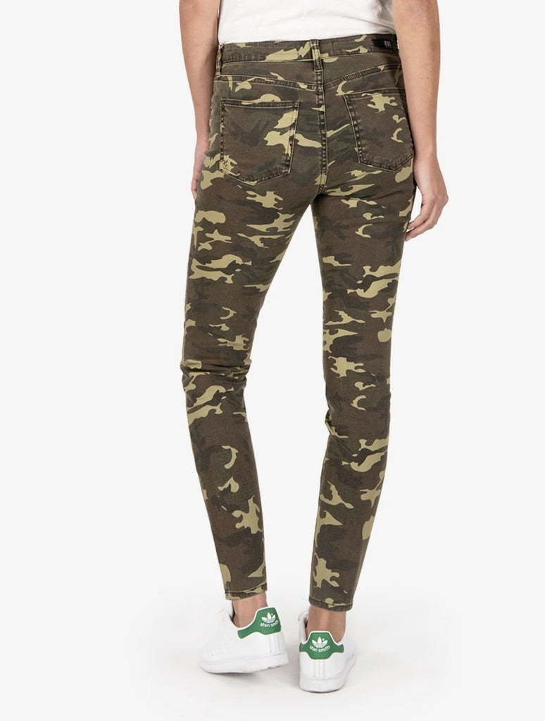 Kut from the Kloth Camo Connie in Olive Camo