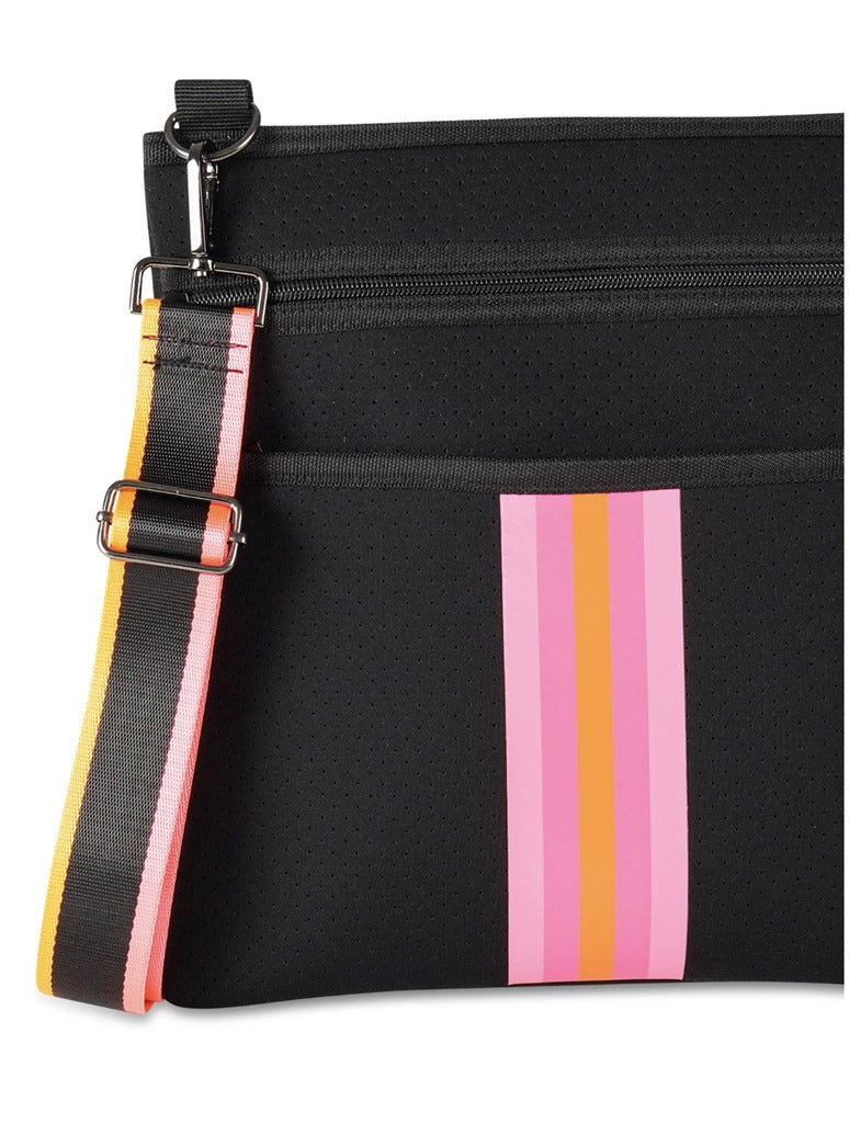 Haute Shore Peyton Soul in Black with Pink and Orange Stripe