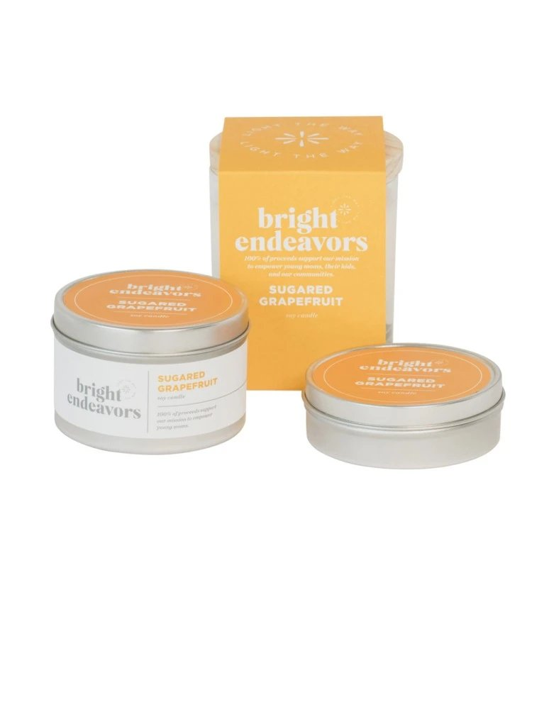 Bright Endeavors 4oz Small Tin in Sugared Grapefruit