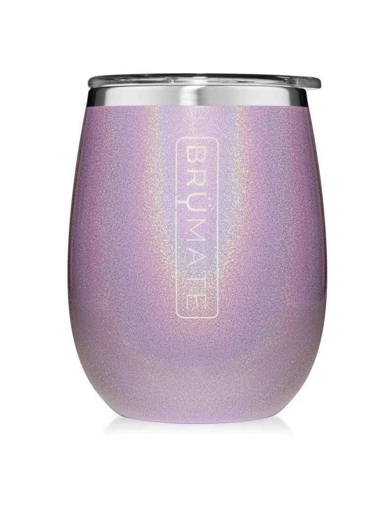 BrüMate Wine Tumblr in Glitter Violet