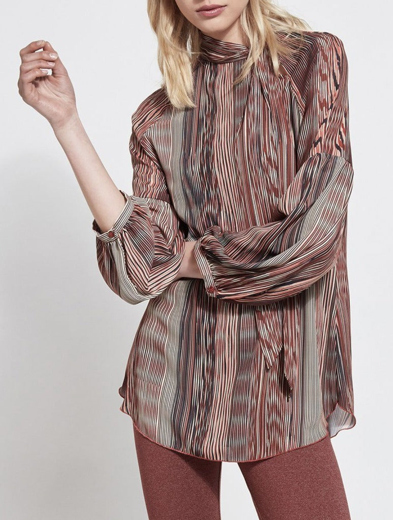 Lysse Perry Blouse in Scribe Print