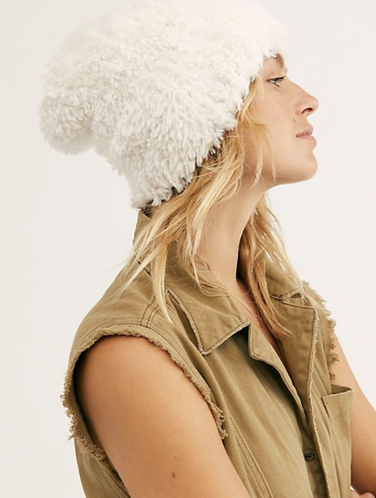 Free People Head in Clouds Beanie in White