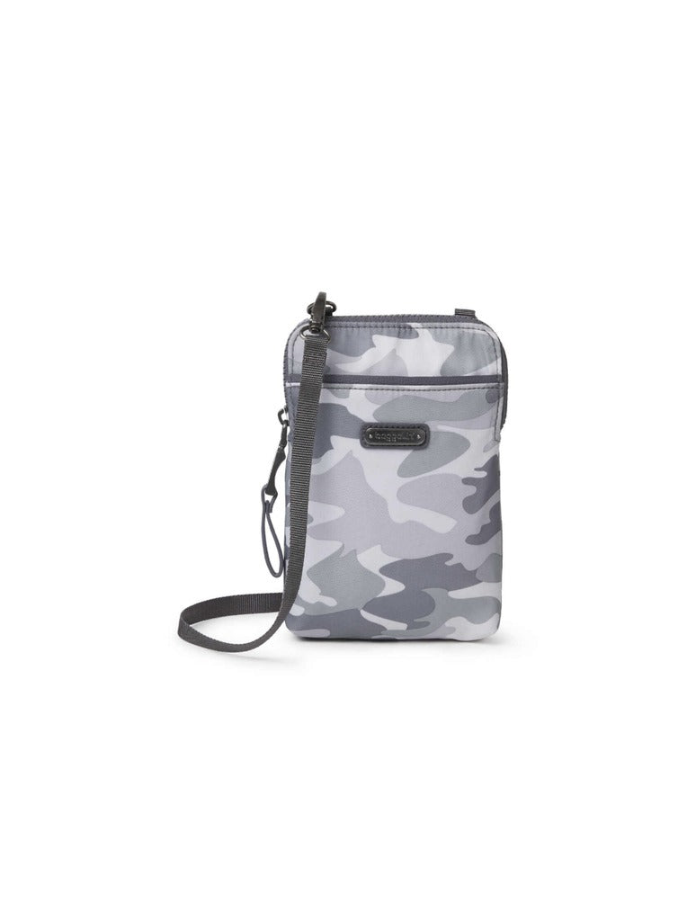Baggalini Broadway Crossbody in Grey Camo