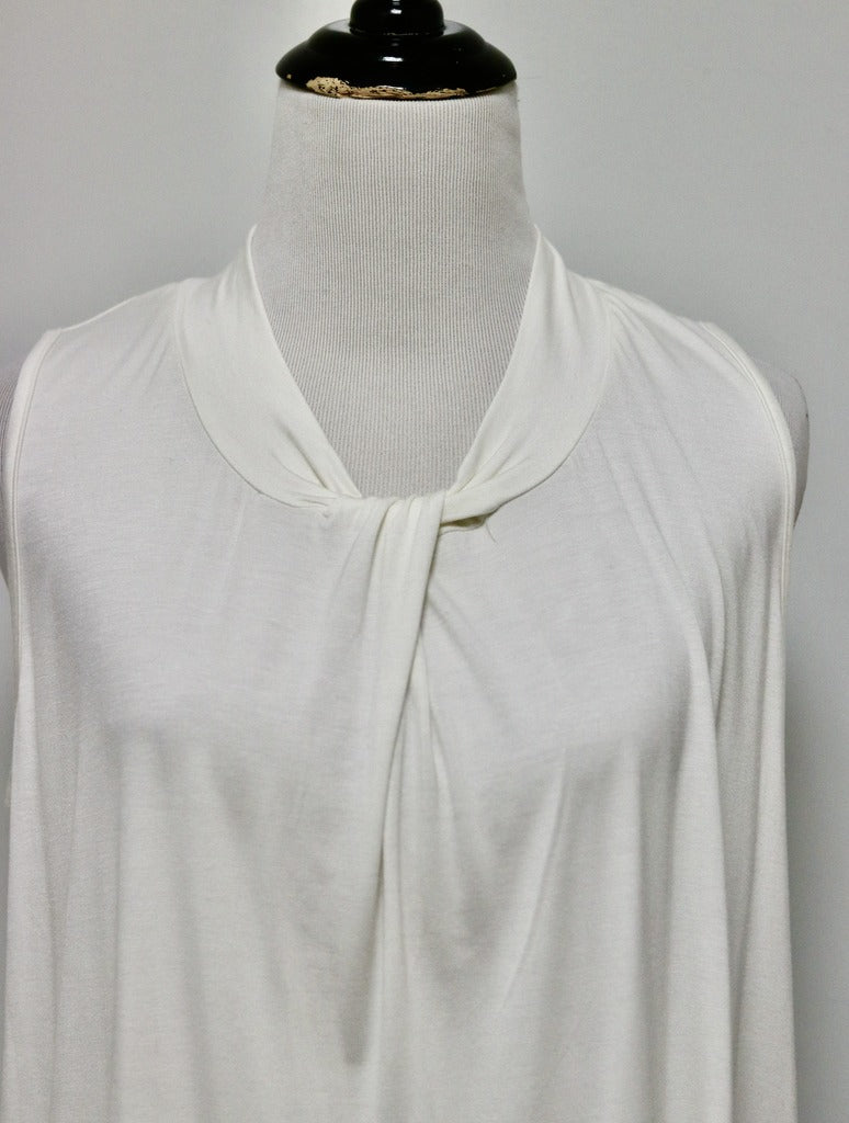 No Less Than Twist Tank in Ivory