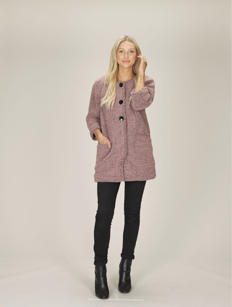 Papillon Furry Coat in Pink