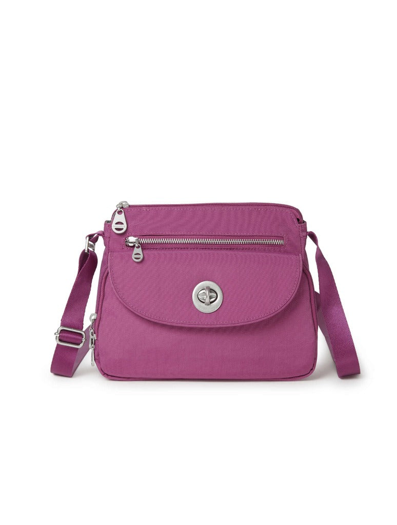 Baggalini Calais Crossbody in Deep Fuschia