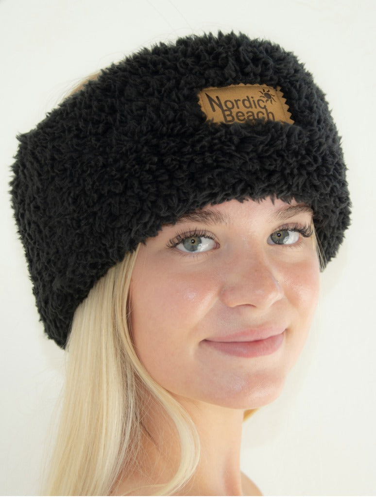 Nordic Beach Head Wrap in Black Licorice