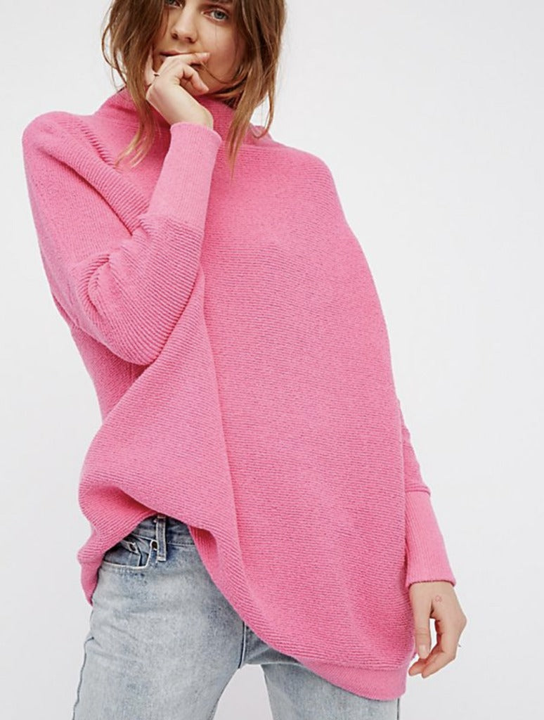 Free People Ottoman Tunic in Electric Pink