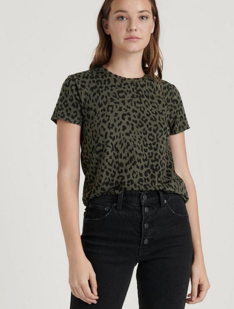 Lucky Brand Animal Tee in Olive