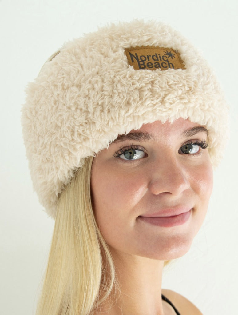Nordic Beach Head Wrap in Fluffy Frappe