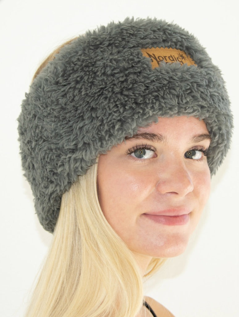Nordic Beach Head Wrap in Koala Grey