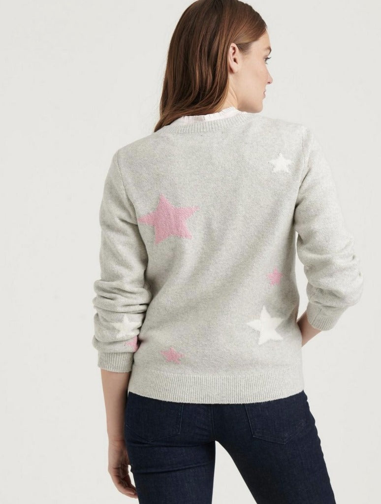 Lucky Brand Star Pull Over in Grey