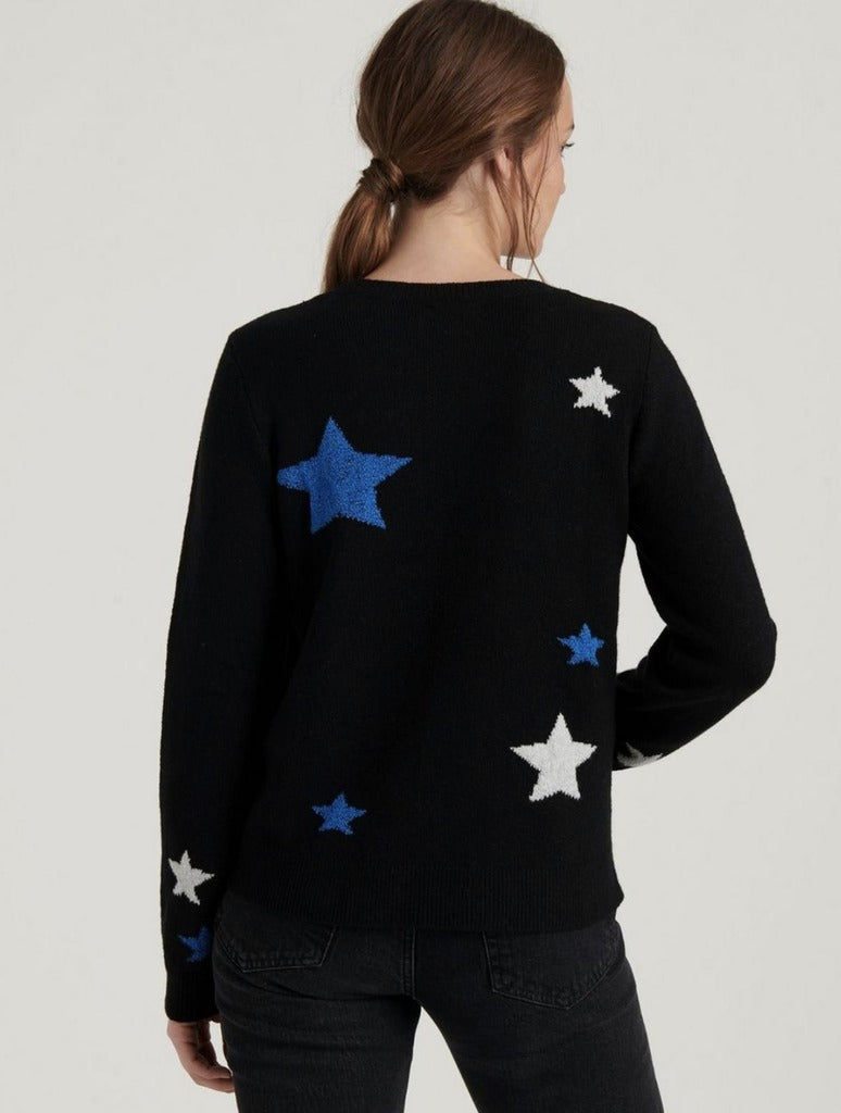 Lucky Brand Star Pull Over in Black