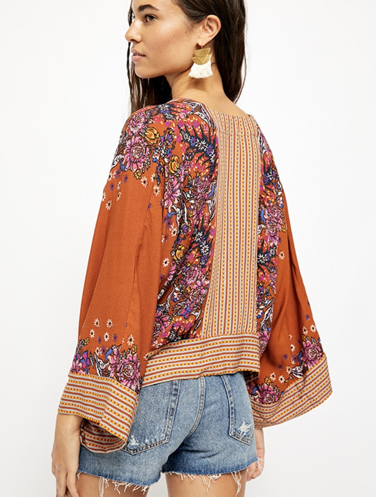 Free People Mix N Match Blouse in Orange