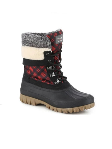 Bos & Co Grip Red Lace Up Wool Hiker Boot