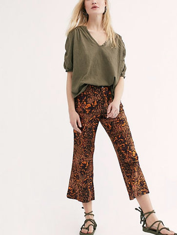 Free People Roma Blouse in Brown
