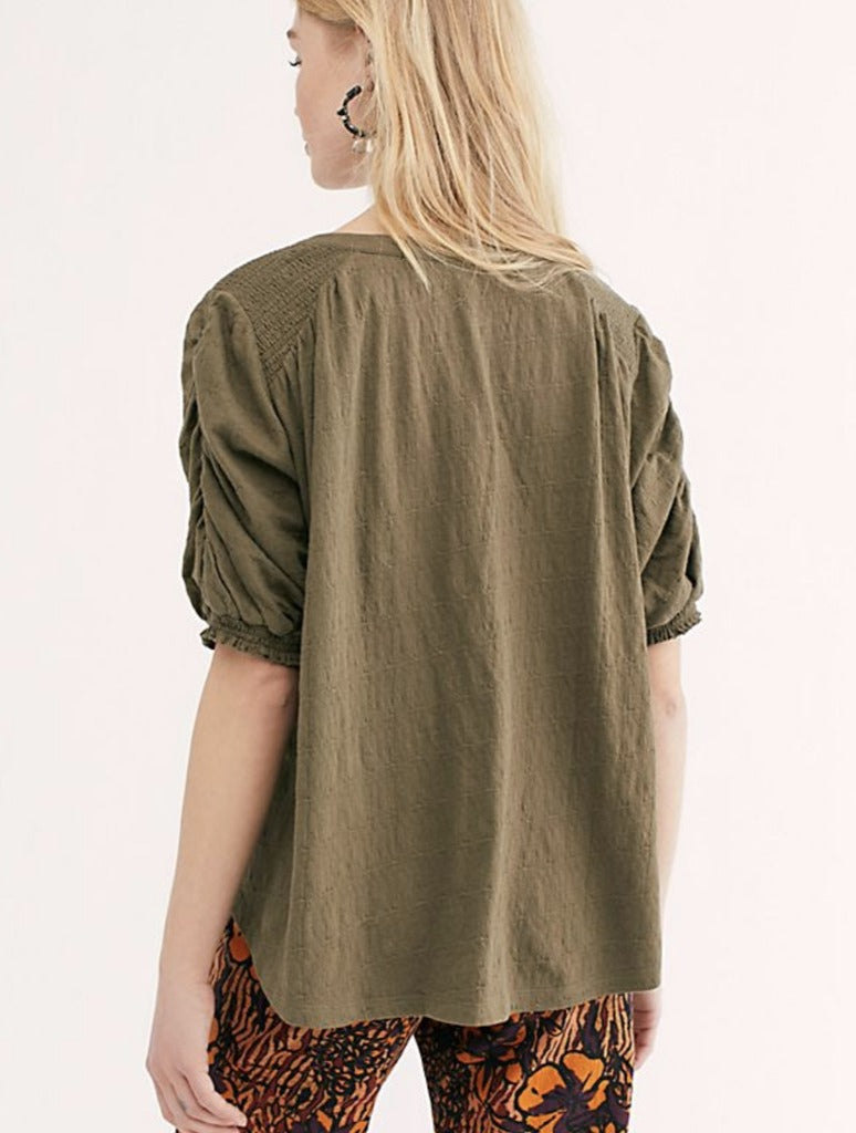 Free People Fever Dream Top in Army
