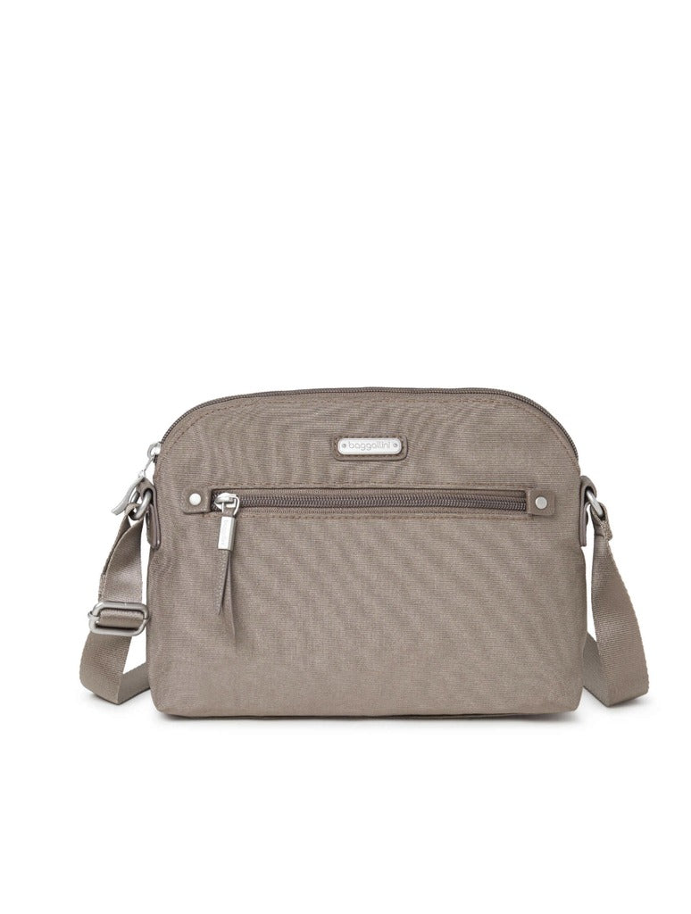 Baggalini Dome Crossbody in Portobello Shimmer