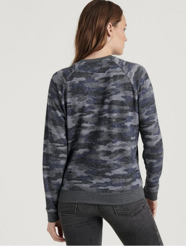 Lucky Brand Camo Sweater in Grey