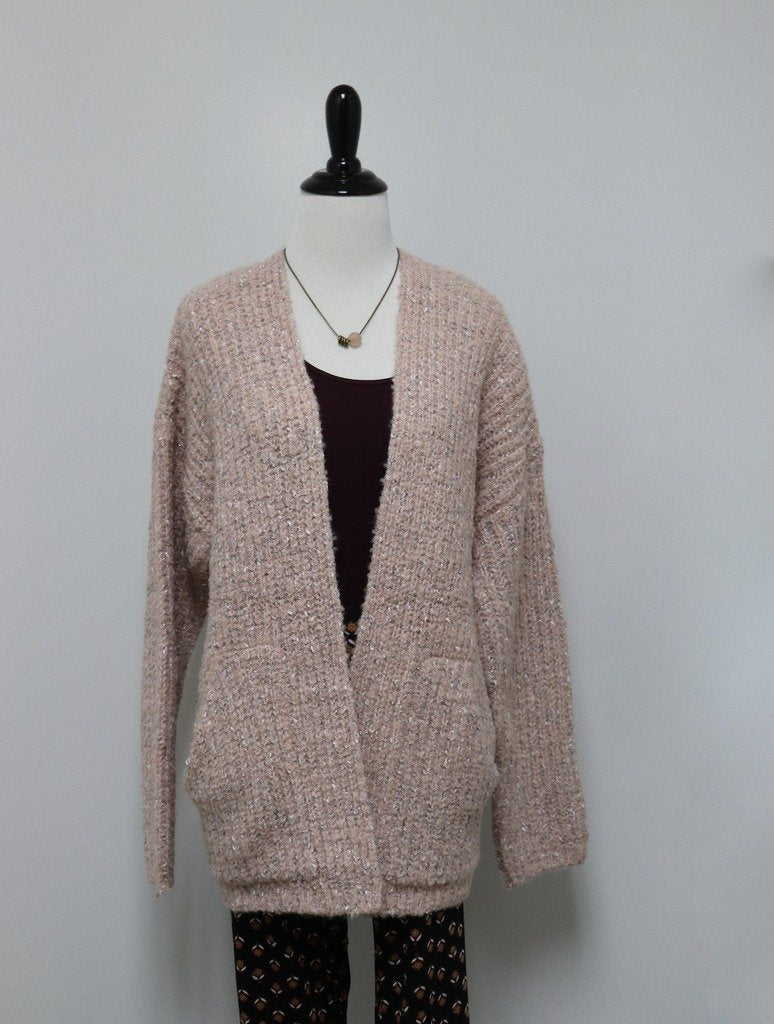 Mystree Open Cardigan in Rose
