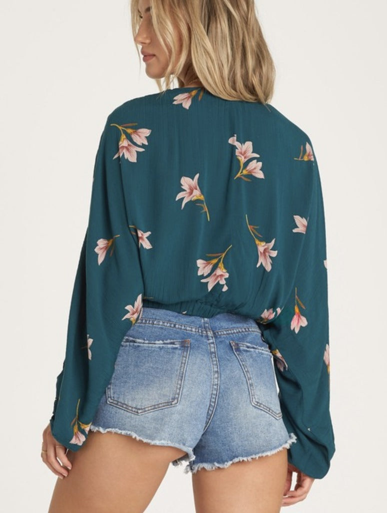 Billabong Safe Bet Blouse in Jade